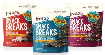 free2b Snack Breaks - Premium Snacking Chocolate (Top 12 Allergen Free, Gluten-Free and Vegan)