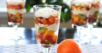 Tropical Fruit Parfaits with Vanilla Nut Whipped Topping