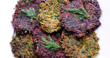 Shredded Vegetable & Kale Pancakes