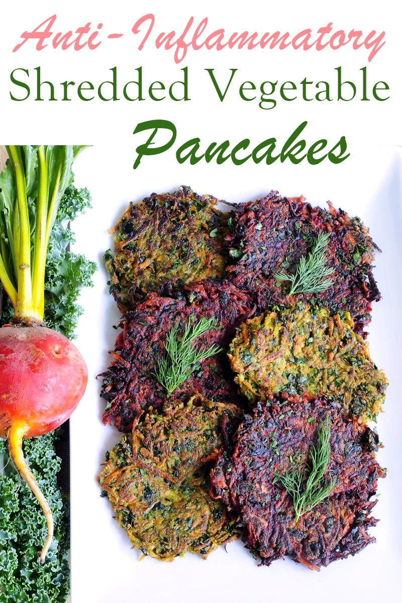 Shredded Vegetable & Kale Pancakes Recipe - Vegan, Anti-Inflammatory Comfort Food