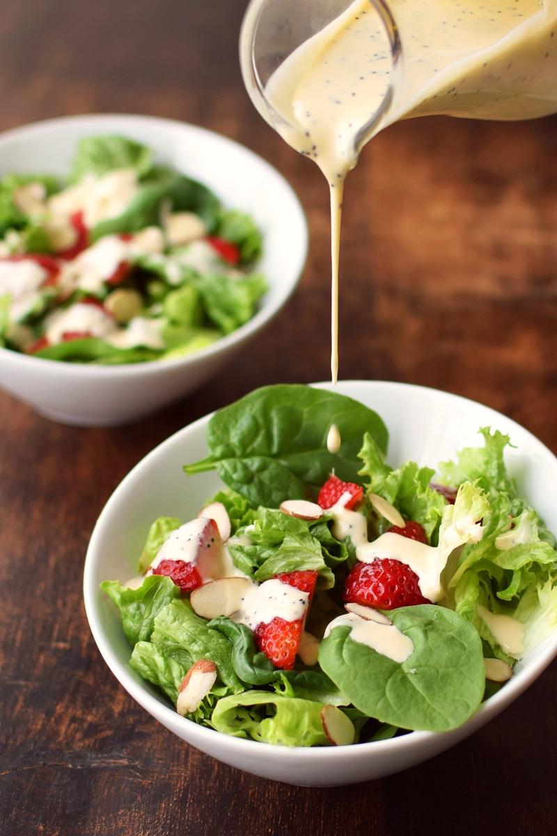 Creamy Lemon Poppy Seed Dressing Recipe (dairy-free, gluten-free, oil-free, mayo-free and vegan) - deliciously versatile!