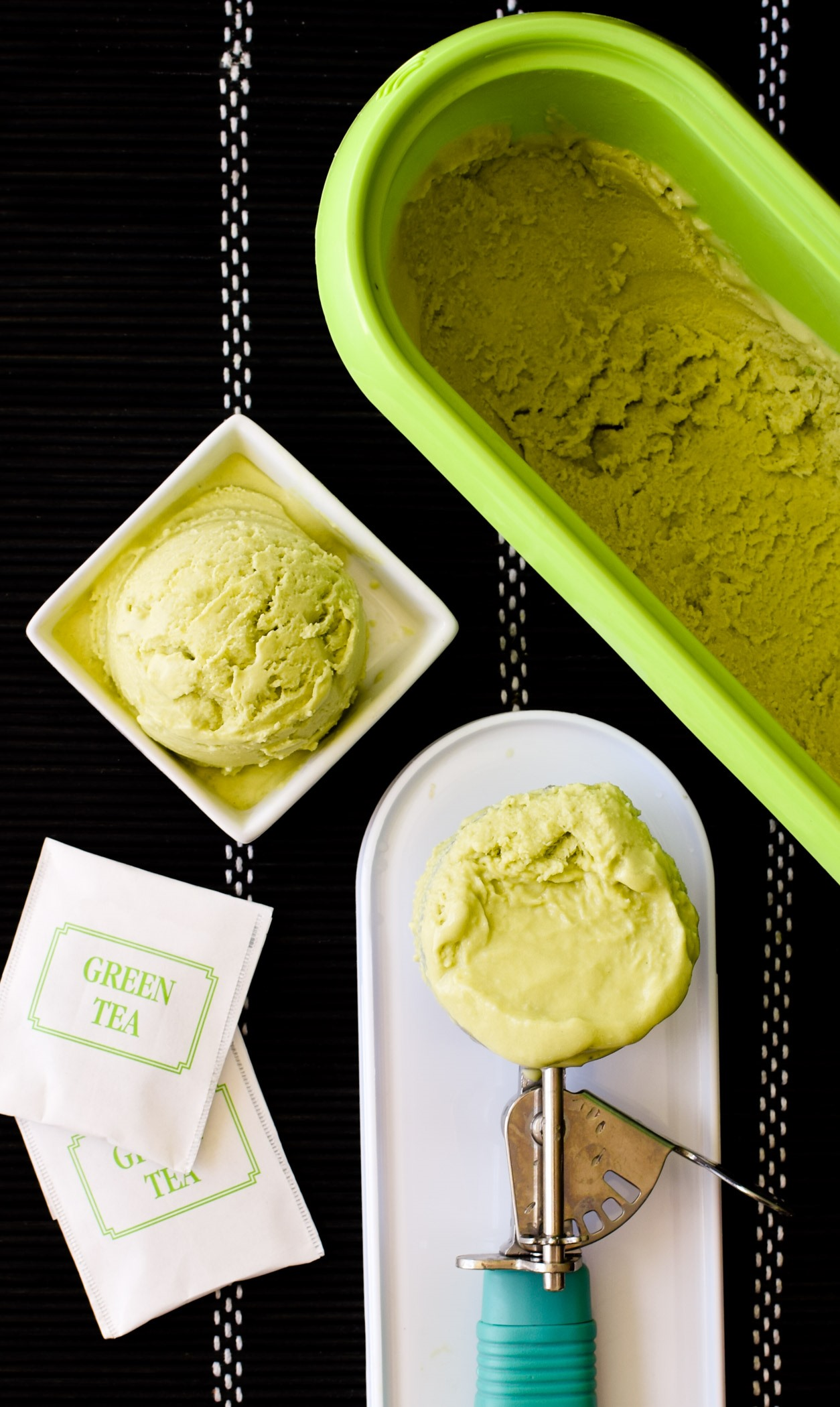 Dairy-Free Green Tea Ice Cream Recipe (naturally vegan, gluten-free, soy-free and just 5 ingredients!)