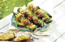 Grilled Balsamic Vegetable Skewers Recipe - naturally dairy-free, gluten-free, vegan, allergy-friendly and optionally paleo