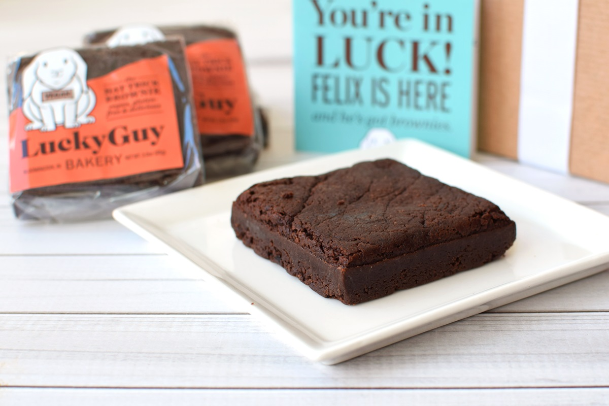 LuckyGuy Bakery Vegan Brownies (Review) - Gluten-free too! And made without dairy, eggs, nuts, and soy. Gift-worthy.