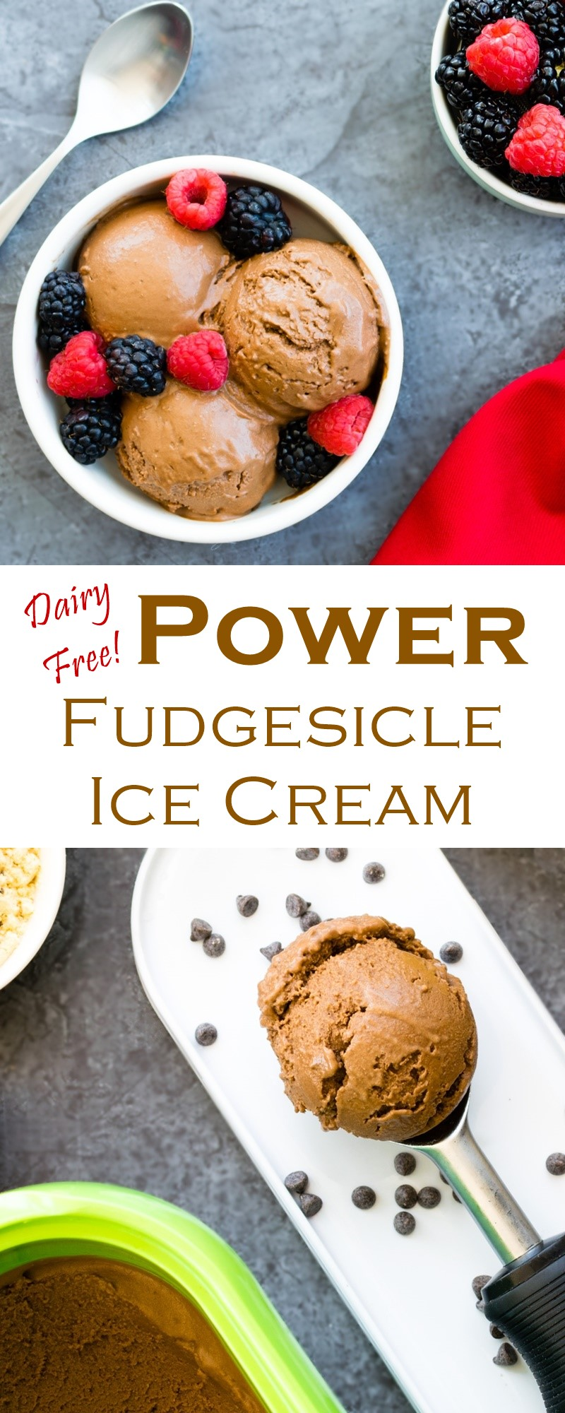 Chocolate Fudgesicle Power Ice Cream Recipe - a nutritious dairy-free, gluten-free, allergy-friendly and vegan treat