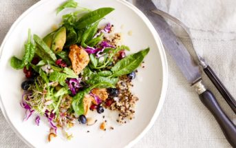 The Ultimate Superfood Salad Recipe - dairy-free, gluten-free and a vegan option