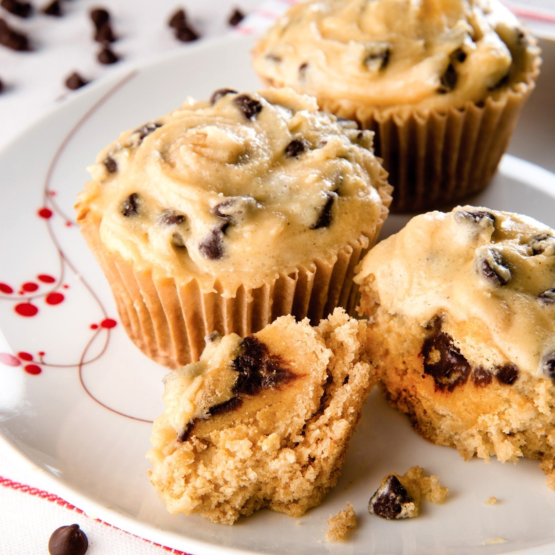 Cookie Dough Cupcakes Recipe by Debbie Adler - Impossibly Vegan, Gluten-Free, Top Allergen-Free and Refined Sugar-Free!