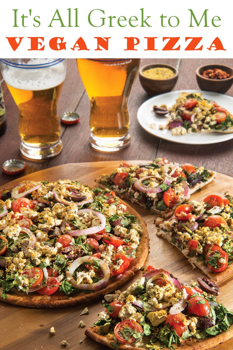 Greek Style Vegan Pizza Recipe With Dairy Free Feta Cheeze
