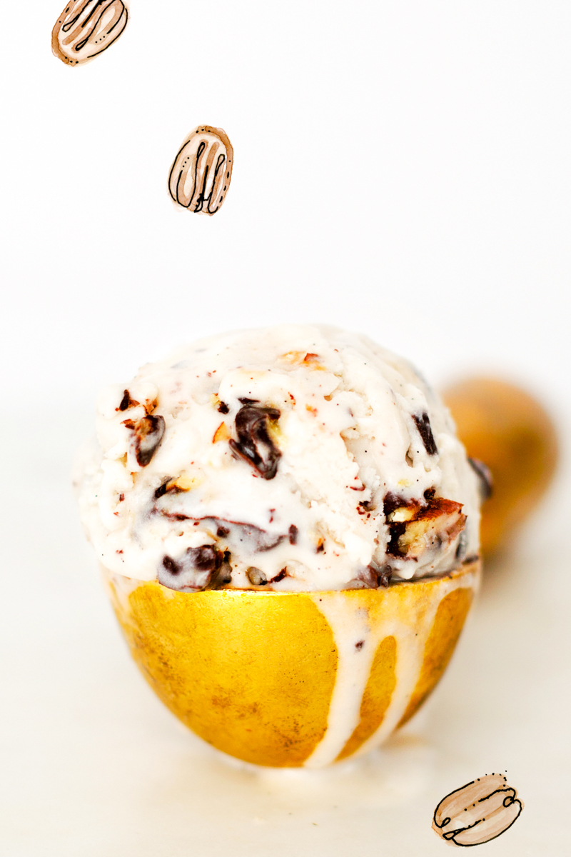 Bourbon Salted Pecan Nice Cream