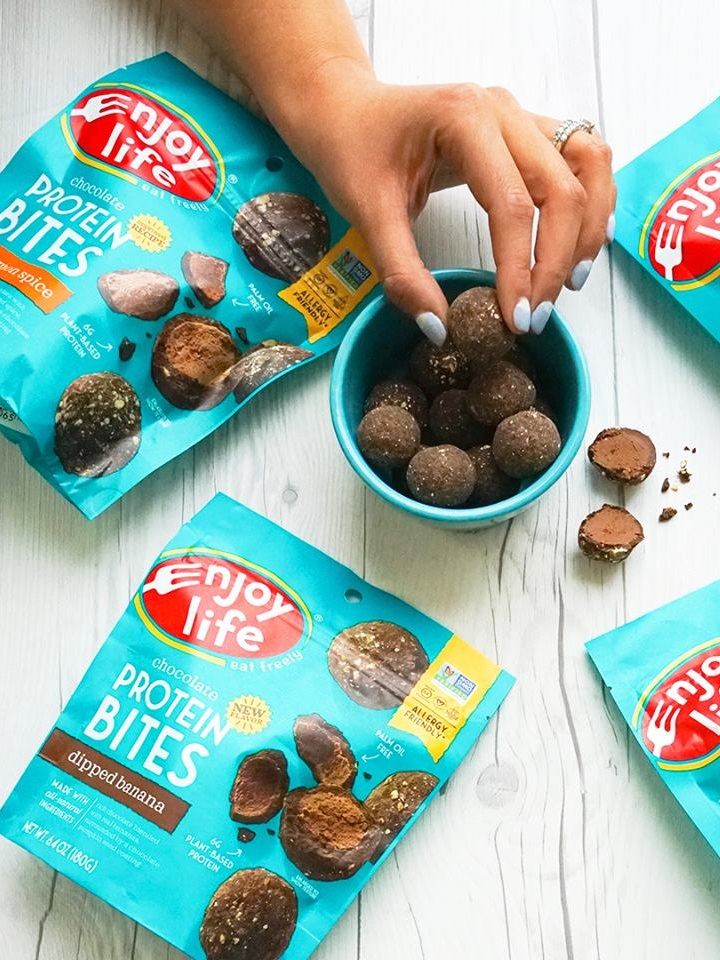 Enjoy Life Protein Bites Review and Info - free of the top 14 allergens, gluten-free, vegan, and more! We have ingredients, nutrition, availability, ratings, and reviews