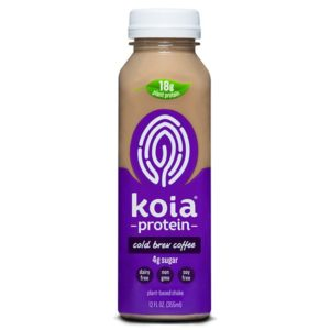Koia Protein Drinks - dairy-free, plant-based, gluten-free, soy-free, high-protein, low-sugar, creamy beverages in a rainbow of flavors.