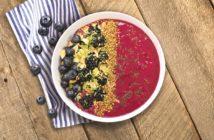 Black & Blue Berry Smoothie Bowl Recipe with Avocado! Dairy-free, vegan, and allergy-friendly