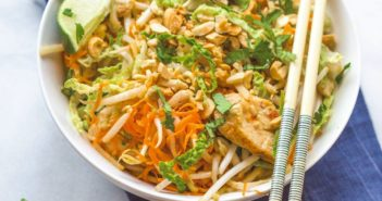 Chicken Pad Thai with a Vegan Option