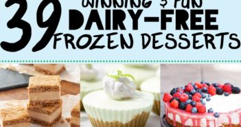 39 Winning Dairy-Free Frozen Dessert Recipes for #FrozenFridays - tons of vegan, plant-based and gluten-free treats!