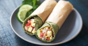 Homemade Spinach Tortillas - Gluten-free, vegan recipe (pictured) + a wheat-based version