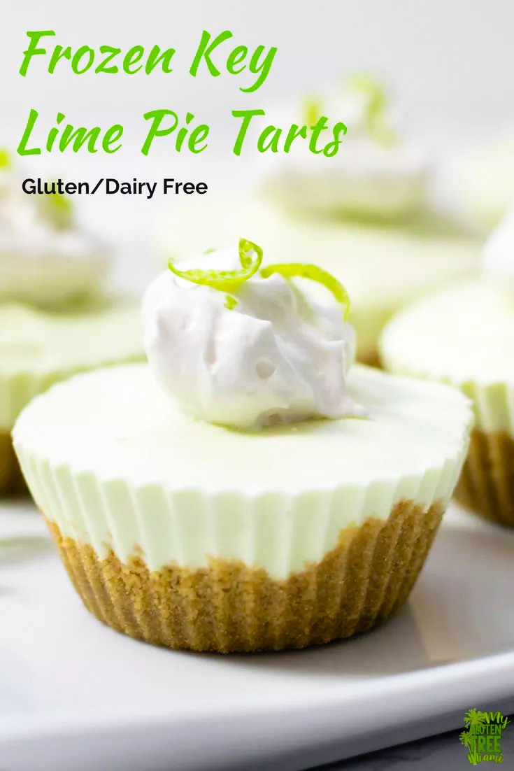 Mini Frozen Key Lime Tarts Recipe - a prize-winning vegan, gluten-free and dairy-free frozen dessert recipe