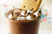 S'mores Milkshake Recipe - dairy-free, gluten-free and kid-approved - by @CeliacBeast