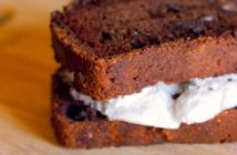 Vegan Chocolate Zucchini Bread Ice Cream Sandwiches Recipe - amazing dairy-free, egg-free, kid-approved bread recipe!