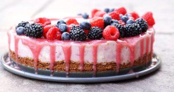Dairy-free Rhubarb Ice Cream Cake - a contest-winning vegan frozen dessert recipe