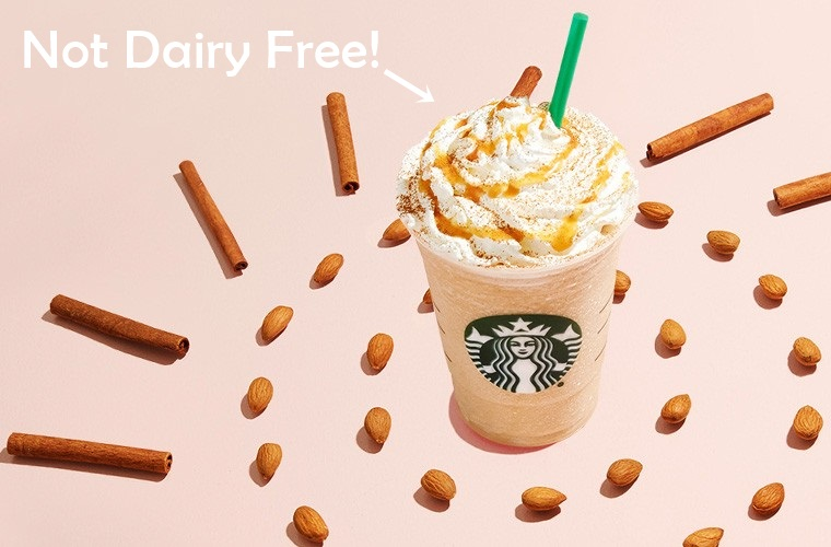 Some of Starbucks AlmondMilk and CoconutMilk Drinks require modifications to be Dairy Free