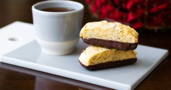 Chocolate Dipped Dairy-Free Biscotti Recipe 4 Ways - Classic, Whole Wheat, Gluten-Free and Vegan