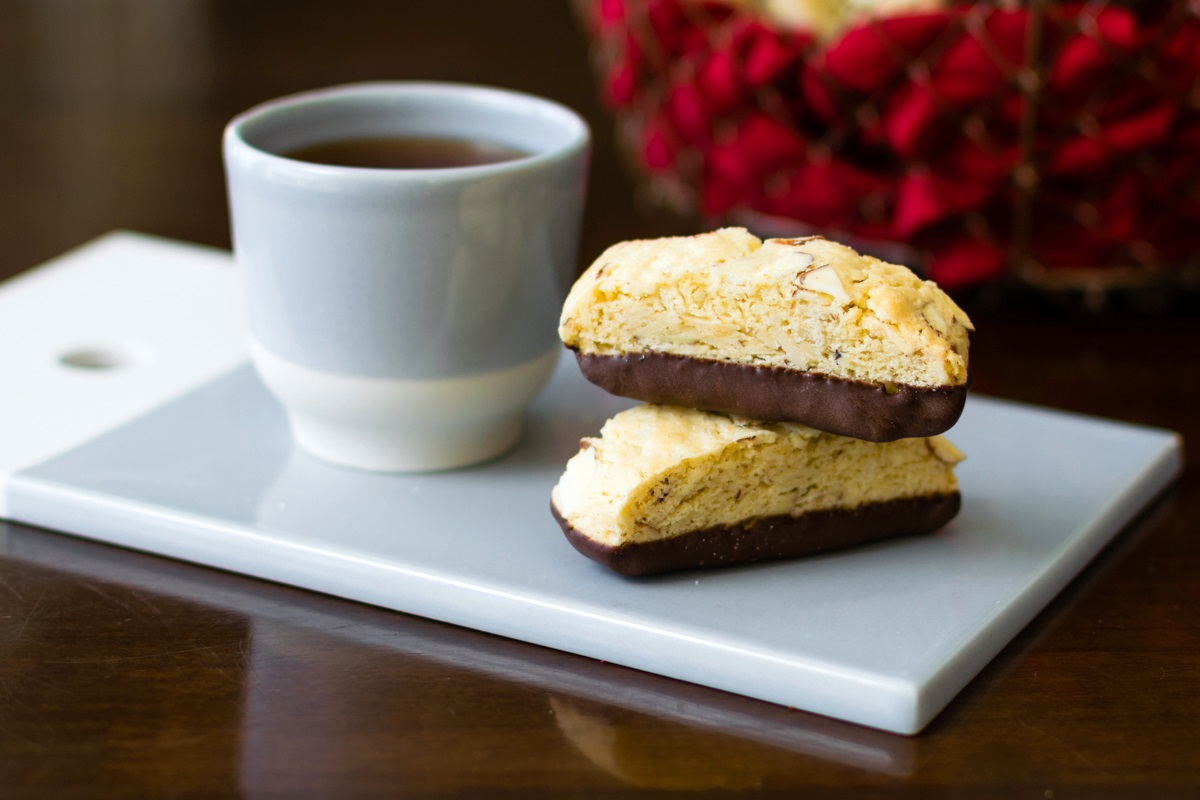30 Homemade Treats for a Dairy-Free Mother's Day to Remember. Pictured: Chocolate Dipped Biscotti with gluten-free and vegan options