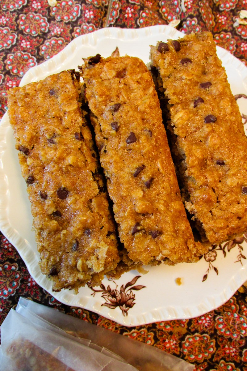 Chocolate Chip Soft Baked Granola Bars - dairy-free, nut-free and family-friendly kids-can-cook recipe