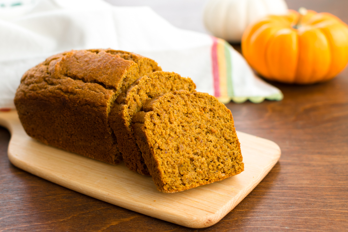 This tender, perfectly sweet, healthy pumpkin bread is dairy-free, vegan, 100% whole grain, sweetened naturally, and is surprisingly nut-free & soy-free!