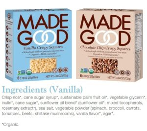Made Good Crispy Squares Review - Dairy-free, Gluten-free, Vegan, Top Allergen Free, Organic and Sneaky!