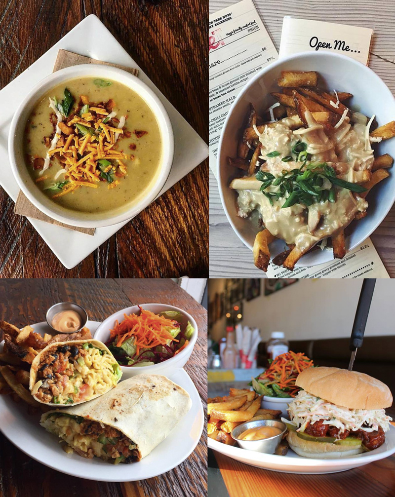 MeeT on Main & Gastown is a veggie comfort food haven! Everything on the menu is vegan and just about everything is gluten-free as well.