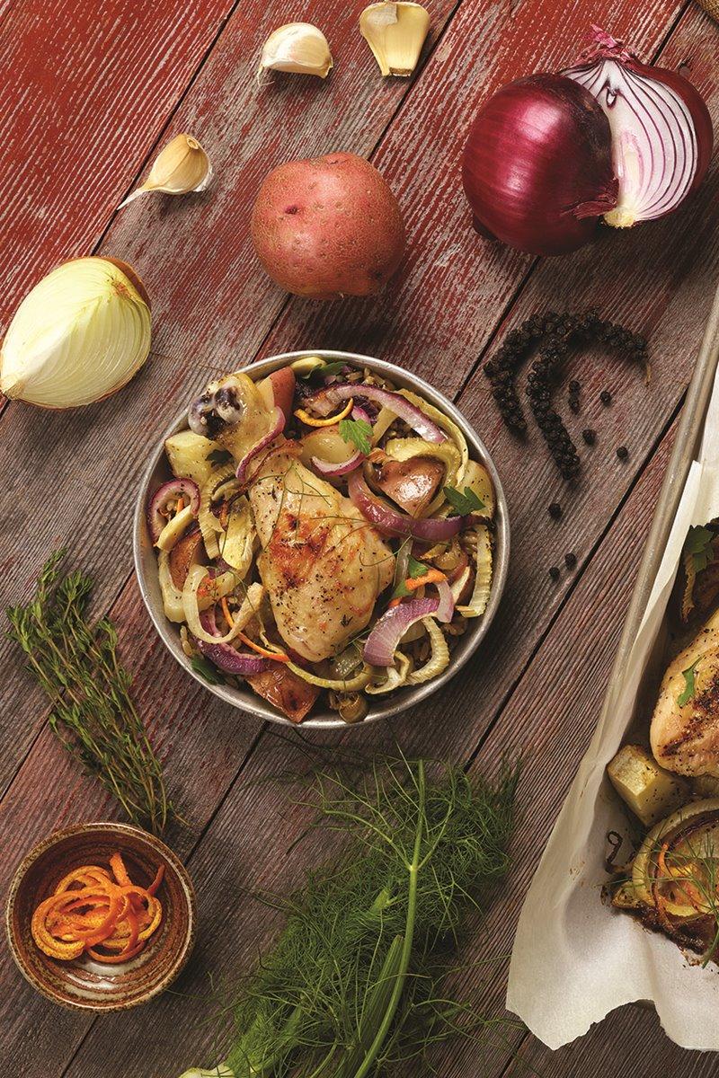 Easy Drumstick-Quinoa Sheet Pan Supper
