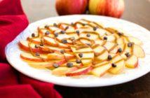 Healthy Caramel Apple Nachos Recipe - Fast, Easy, Just 4 Ingredients, Vegan, Dairy-Free, Gluten-Free, Nut-Free and Soy-Free