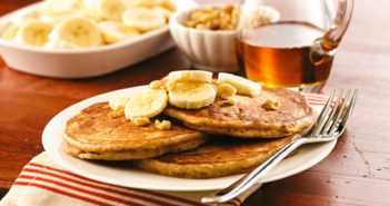 Maple Banana Bread Pancakes