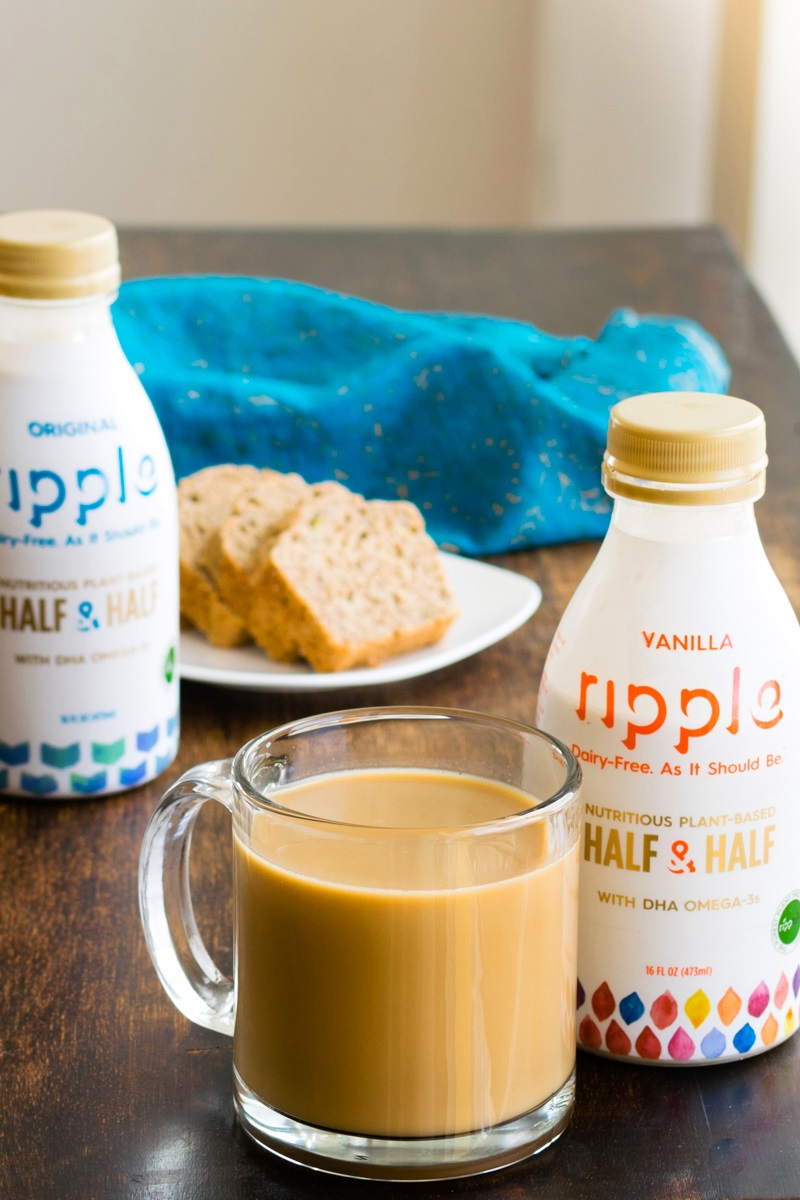 Ripple Half & Half Review - dairy-free, plant-based, vegan, and top allergen free in Plain Unsweetened and Vanilla
