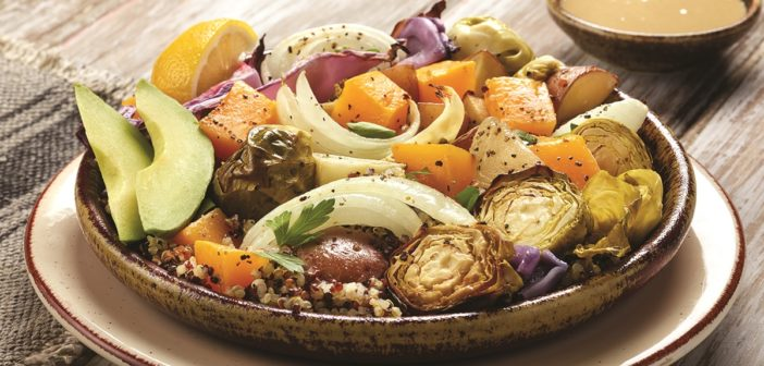 Buddha Bowls with Roasted Winter Vegetables