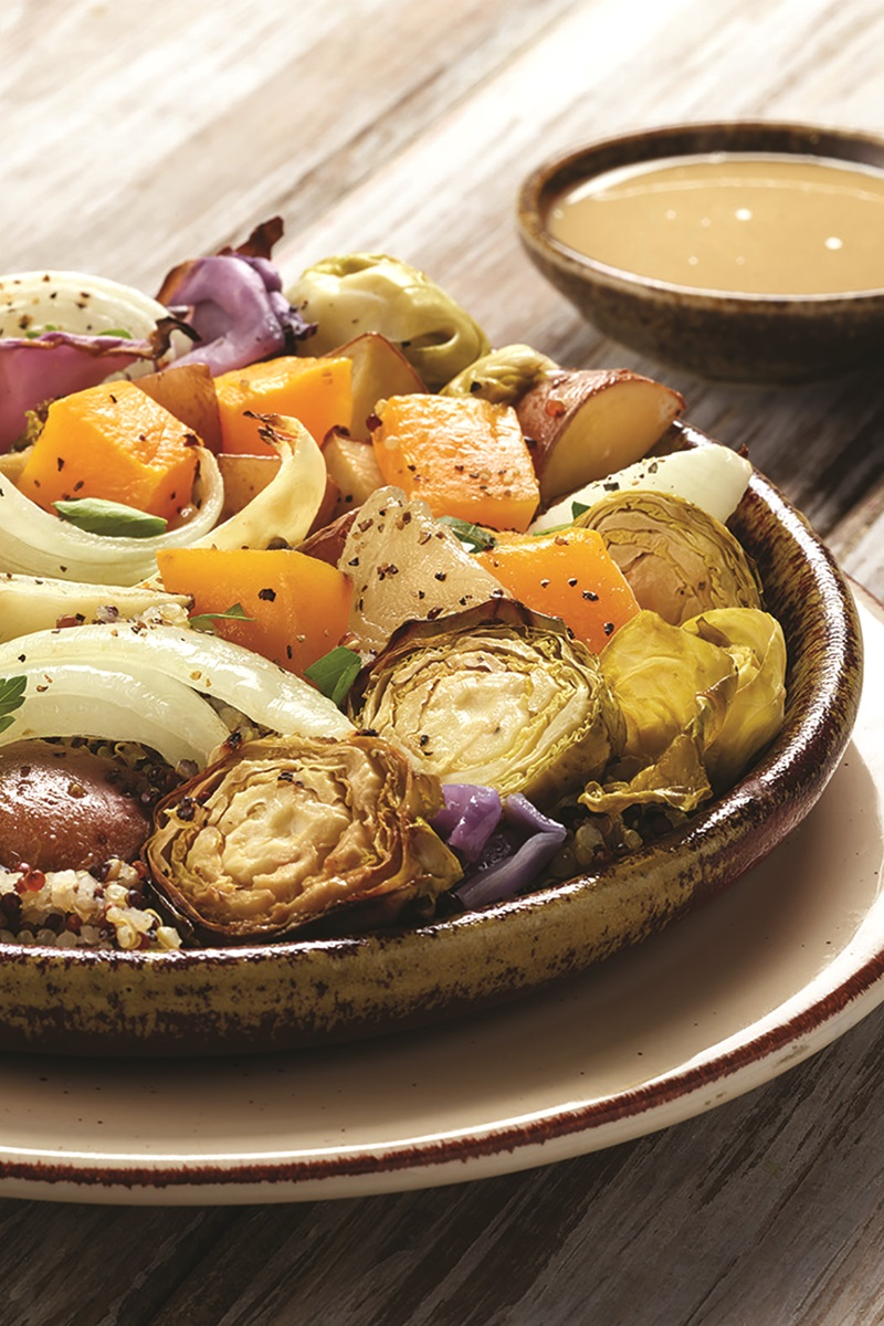 Buddha Bowls Recipe with Roasted Winter Vegetables - made sheet-pan style! (dairy-free, gluten-free and vegan)