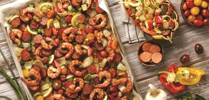 Spicy Jambalaya Pasta: An Easy Roasted Sheet Pan Dinner