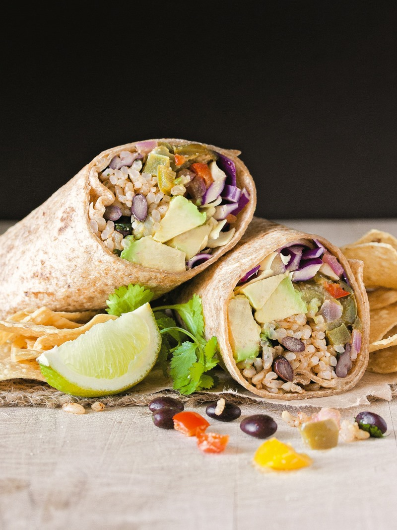 Chipotle and Lime Vegan Burritos Recipe from Vegan Burgers and Burritos by Sophia DeSantis