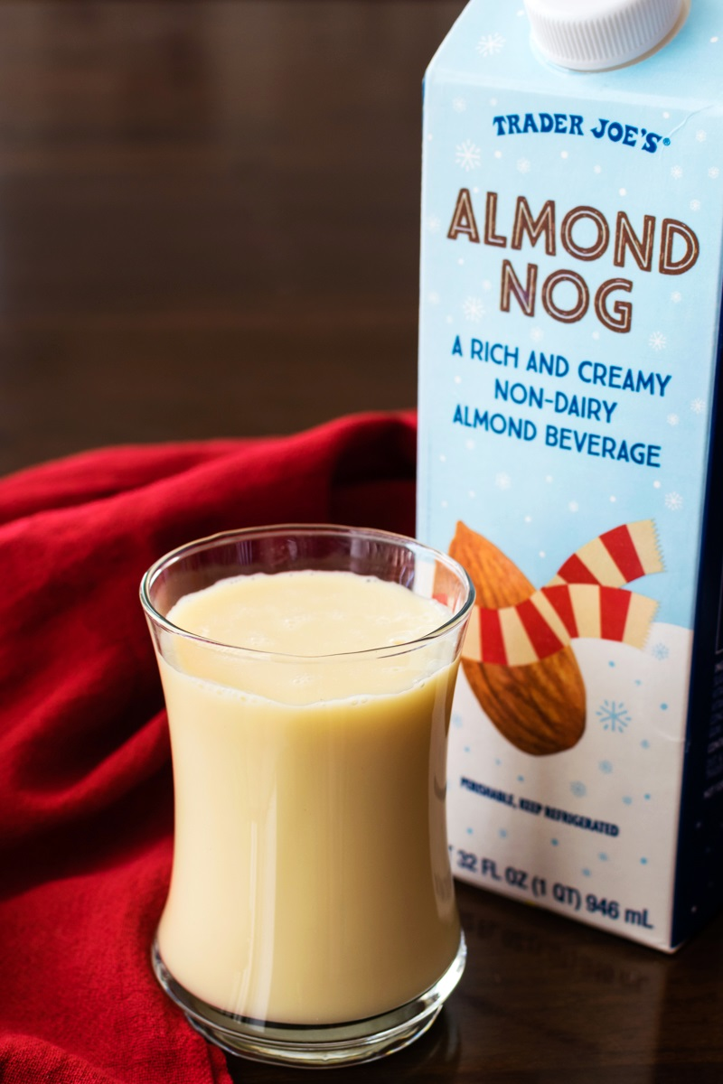 Trader Joe's Holiday Almond Beverages Review - Dairy-Free Almond Nog pictured