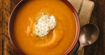 Butternut Squash Soup with Thyme Butter