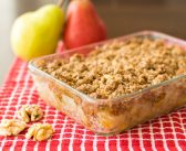 Maple-Walnut Pear Crisp for a Comforting Vegan Dessert