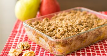 Maple-Walnut Pear Crisp Recipe (Vegan, Optionally Gluten-Free, Soy-Free, Butter-Free & Oat-Free!)