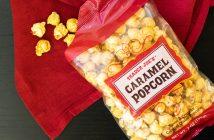 Trader Joe's Caramel Popcorn Review - a surprisingly dairy-free, gluten-free and vegan treat