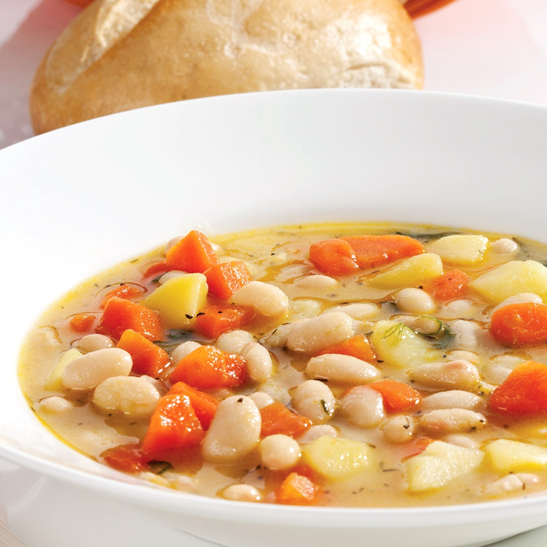 Vegan Tuscan Soup Recipe with White Beans, Vegetables, and Herbs (Healthy, Gluten-Free, Allergy-Friendly, Inexpensive and Flavorful!)