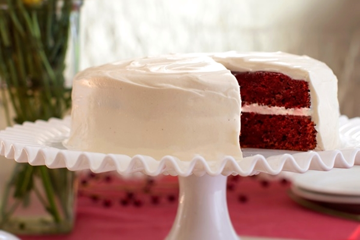 Cranberry Red Velvet Cake