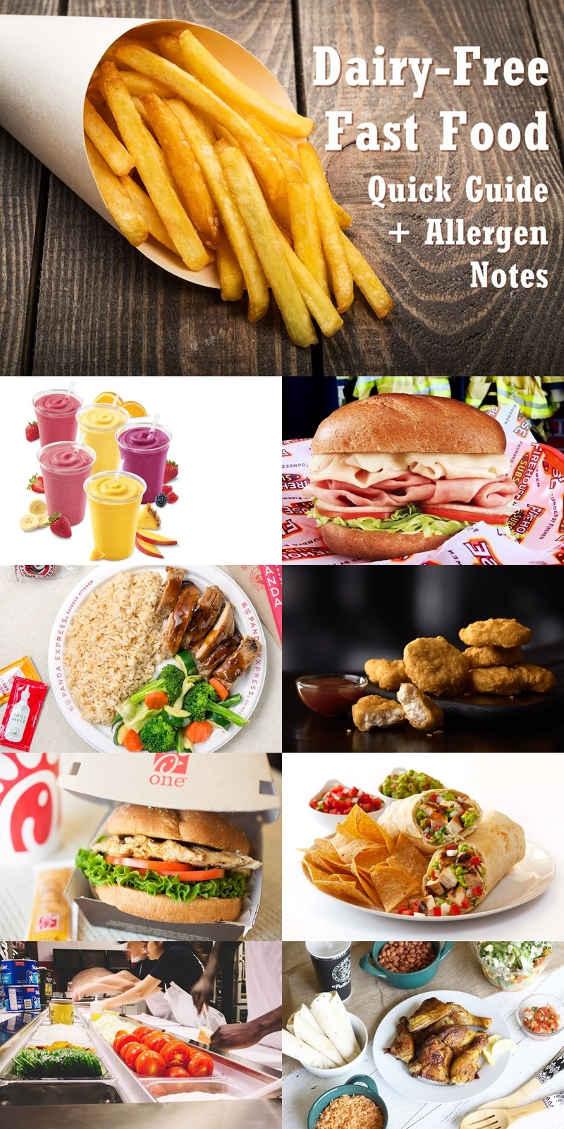 Dairy-Free Fast Food Listings - Quick Guide + Allergen Notes