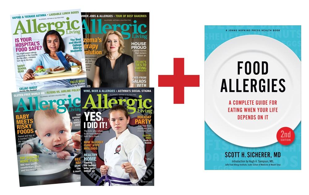 Food Allergy Combo Sale - Allergic Living Magazine + Dr Scott Sicherer's new Food Allergy Book