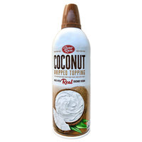 Trader Joe's Sweet Rose Coconut Whipped Topping - dairy-free and vegan whipped cream alternative.