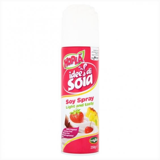 Dairy-Free and Vegan Whipped Cream Guide - products and recipes! (Hopla Soy Spray pictured)