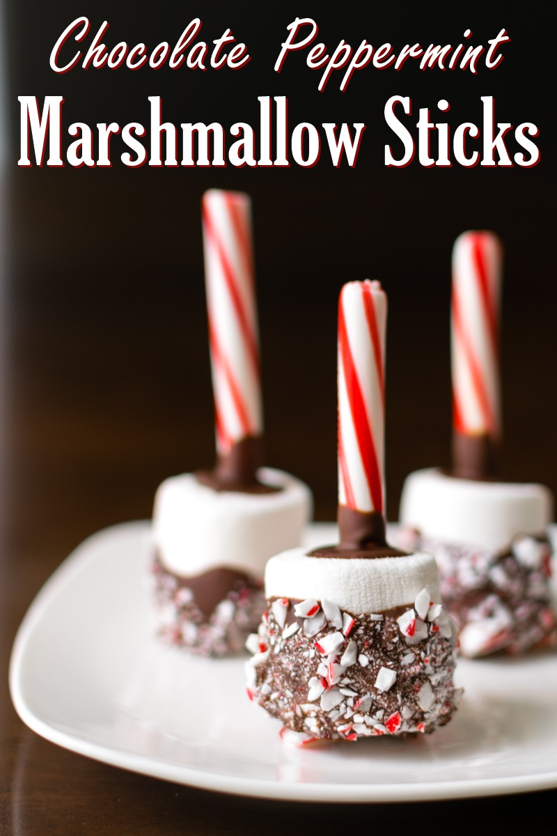 Chocolate Marshmallow Peppermint Sticks Recipe - easy, fun, dairy-free, and optionally vegan (great in hot cocoa!)